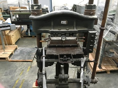 Unknown Handprägepresse / Hand stamping press used