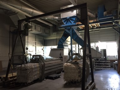 Höcker Polytechnik Papier-Absauganlage / Paper dust extraction used