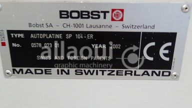 Bobst SP 104 ER Picture 8