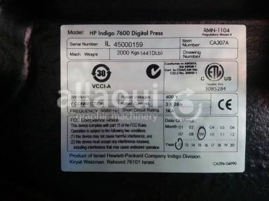 HP Indigo Digital Press 7600 Picture 9