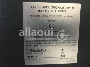 Heidelberg XL 106-10-P+L 18k  Picture 12